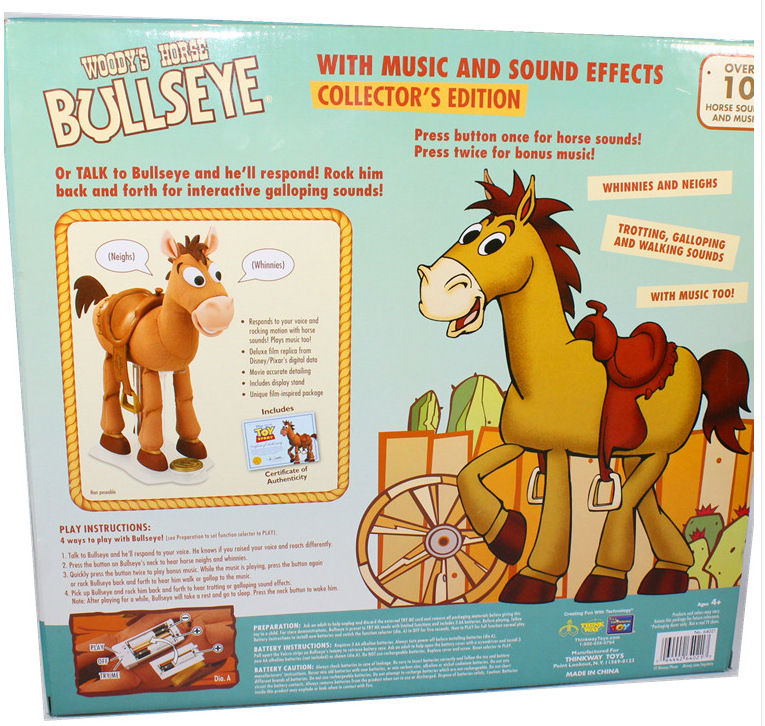 US $50 99 |Toy Story Woody Jessie Horse Bullseye Music Sound Effect  Vibration35cm PVC Action Figure Collectible Model Toy-in Action & Toy  Figures from