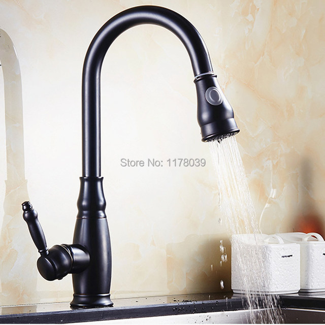 European Style Kitchen Pull Down Faucetoil Rubbed Bronze Kitchen - Oil rubbed bronze pull down kitchen faucet