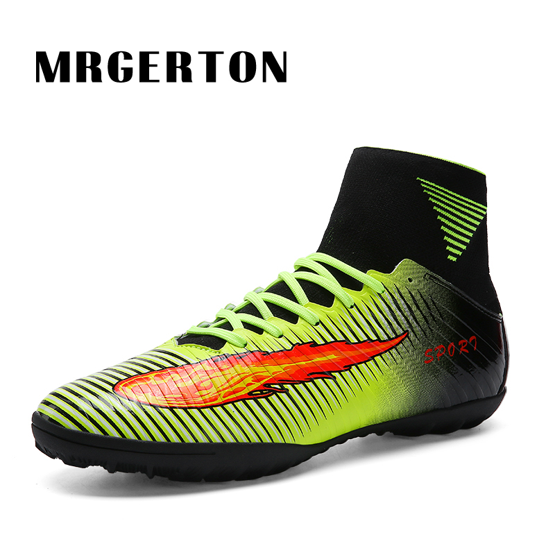 ФОТО  2017 High Ankle Football Boots Kids Botines Botas Youth Superfly Soccer Shoes Man Outdoor Training Sneakers MR22021