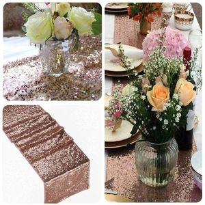 Image 4 - Sequin bảng runner vàng sáng bóng màu bạc sang trọng phong cách bán buôn thêu sequin bảng runner cho đám cưới khách sạn ăn tối bên