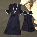 Lisacmvpnel 2 Шт. Сексуальная Спагетти Ремень Женщин С Чашкой Наборы Халат Ночная Рубашка + Халат Женщины Пижамы Элегантные Женщины Домашняя Одежда