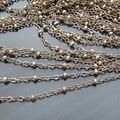 Venta al por mayor de bronce antiguo de cobre 2 mm cadenas de eslabones ancho con diámetro 2.5 mm accesorios del grano 5 metro ( JM2622 )