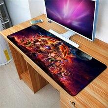 FFFAS 70*40 см Коврик для мыши Мстители Бесконечность войны аниме игровой XL Большой Grande коврик для мыши геймер Коврик для клавиатуры танос Железный человек Капитан