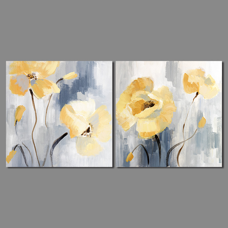 Abstract impressionism decoration yellow flowers patterns wall art abstract impressionism decoration yellow flowers patterns wall art pictures canvas painting for living room home decor unframed in painting calligraphy mightylinksfo