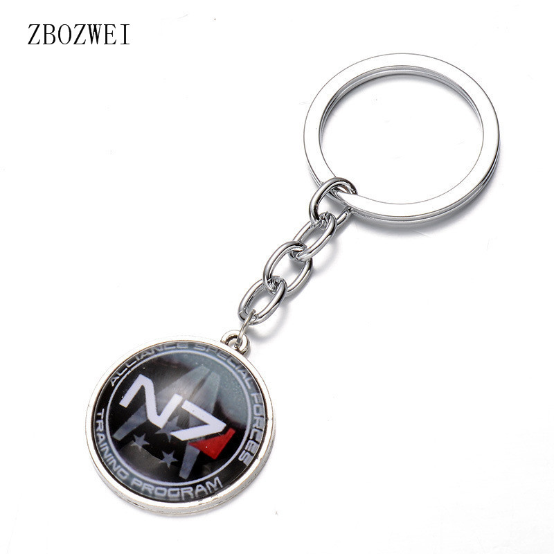 2018 Fashion High Quality Inspiration Alloy Keychain Mass Effect N7 Time Keychain