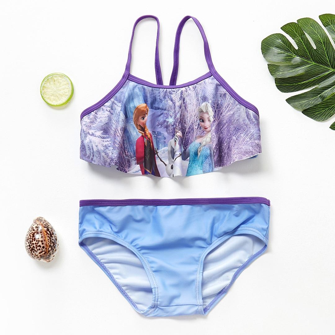 New 2019 Childrens Swimwear Girls Elsa Anna Swimsuit -1629