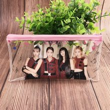 KPOP BLACKPINK JISOO ROSE JISOO JENNIE Brieftasche Stift Tasche Transparent Stift Tasche Schreibwaren Pecil Fall Erhalt Farbe Kosmetische Neue(China)