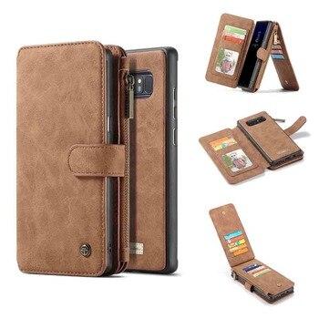 Galaxy Note 8 Case Flip Zipper