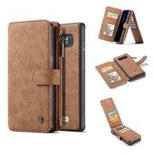 Cho Funda Lưng Samsung Galaxy Note 8 Lật Dây Kéo Ví Da Ốp Điện Thoại Dành Cho Samsung Note 20 Cực S20 note 9 S10