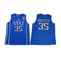 Ediwallen College 35 Marvin Bagley III Basketball Jerseys Uniforms Men Duke Blue Devils Jersey Stitched Black