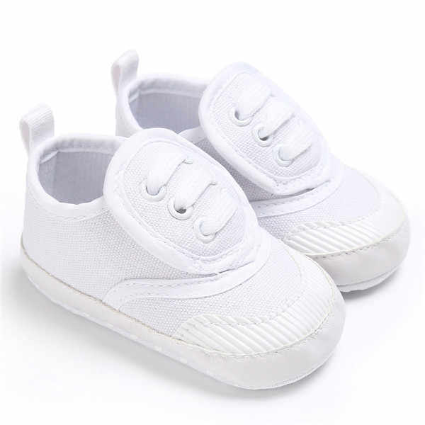 6a1ce6b6c93 ... New Classic Canvas Boy Girls Infant Sports Sneakers Soft Sole Kids  Booties Toddler First Walker Moccasins ...