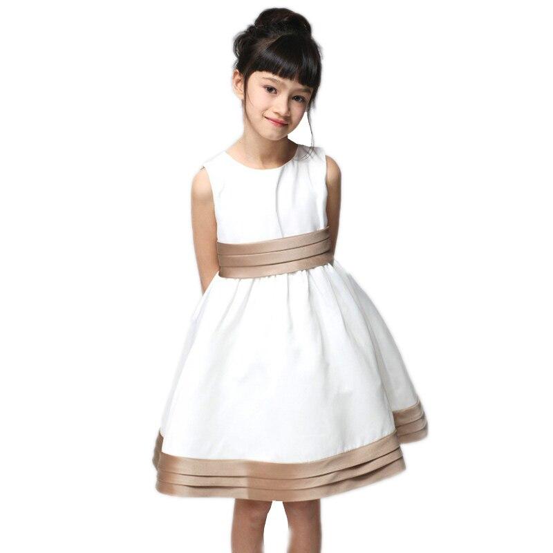 Girls Customes 2017 New Fashion Girl Dress Infant Toddler Little Girl Summer Dress Solid Slinky Dress 2-7T Princess Dresses slinky malinki