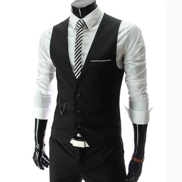 2016 Nuevos hombres de la Primavera traje de negocios de moda chalecos/ocio Masculino traje chalecos/David Beckham mismo estilo trajes de Ocio chalecos