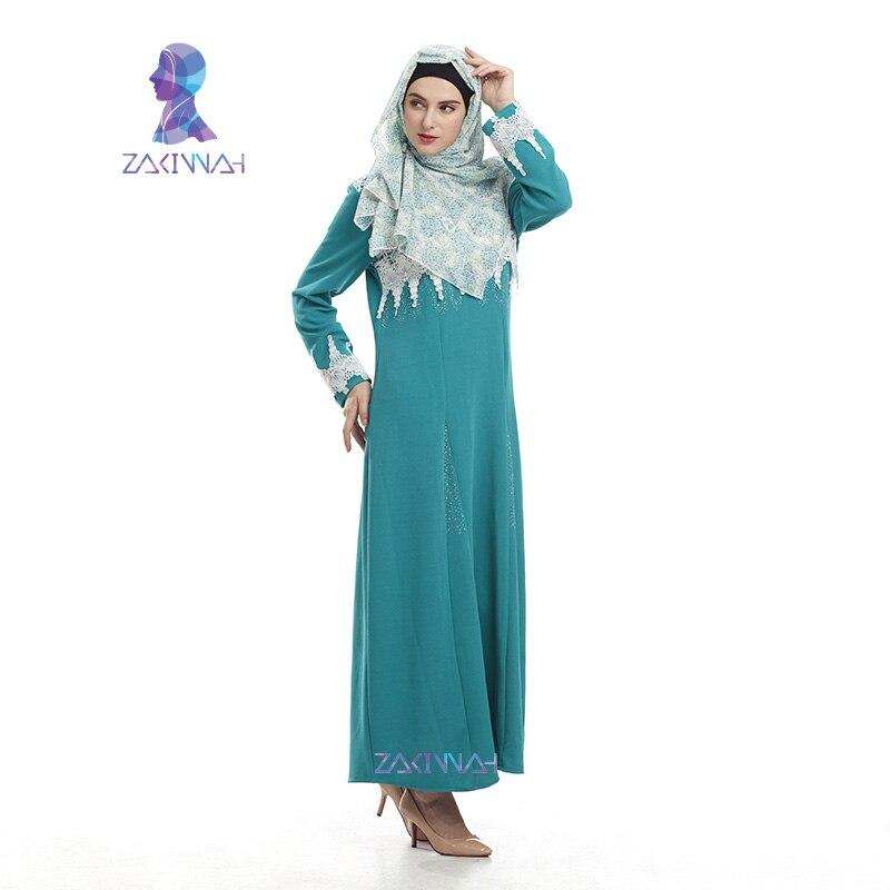 Nya kvinnor dubai abaya islamiska klädesplagg långa turkiska - Nationella kläder - Foto 3