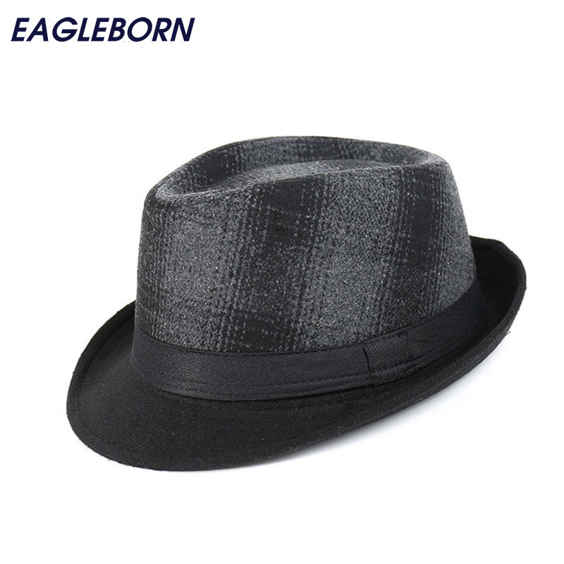 Fashion Brand New Men Casual Fedora Hats Printed Cap Chapeu Winter Panama Jazz Gangster Caps Keep Warm 58cm Gorras(China)