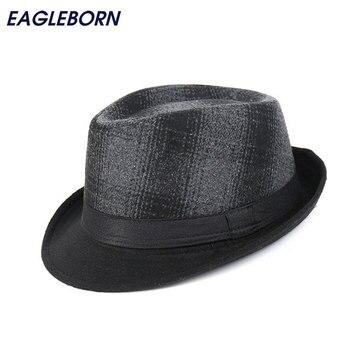 Marca de moda de los nuevos hombres casuales sombreros Fedora estampado  Chapeu invierno Panamá Jazz gángster tapas mantener caliente 58 cm gorras 35f0faf8e86