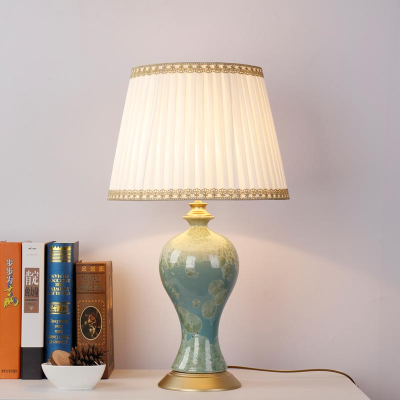 Modern porcelain table lamp bedside ceramic lamp living for Modern living room lamps