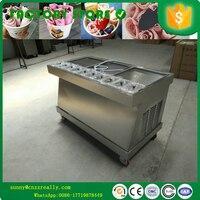 Frito máquina de sorvete de três quadrados pan Frito máquina de gelo fabricante do creme de gelo pan|Sorveteira|Eletrodomésticos -