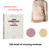 The latest hot knitting tutorial pattern books 250 kinds of weave Japanese writer classic hat sweater scarf design Chinese versi