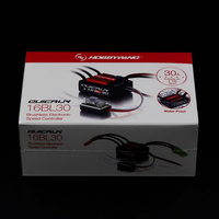 Hobbywing # QUICRUN-WP-16BL30 Hobbywing QuicRun 30110000 Borstelloze Waterdichte 30A Sensorless ESC # WP-16BL30 Voor 1/16 & 1/18 RC