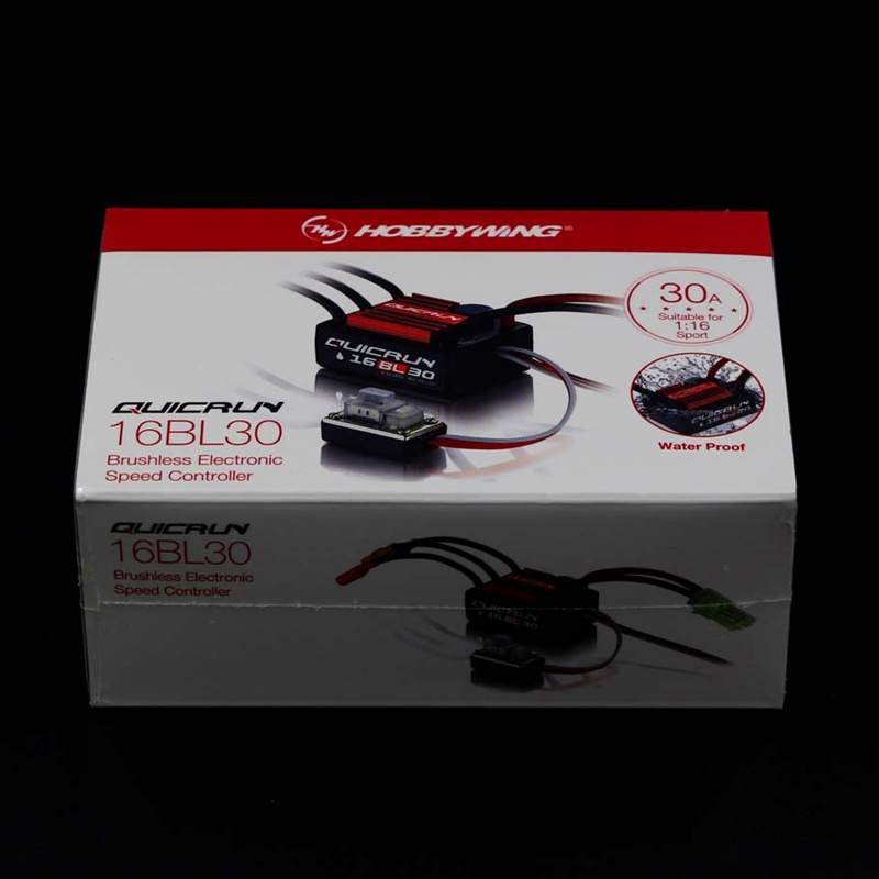Hobbywing #QUICRUN WP 16BL30 Hobbywing QuicRun 30110000 Brushless Waterproof 30A Sensorless ESC #WP 16BL30 For 1/16 & 1/18 RC
