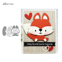 JC Metal Cutting Dies Scrapbooking Cute Fox Stencil Die Cut Card Making Craft Folder Paper Handmade Album Alinacrafts