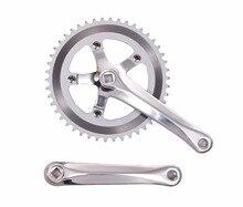 Fixed Gear Bike Crank set  road Bicycle Crank + Chainwheel Single 46T Speed 170 mm aluminum free shipping цена