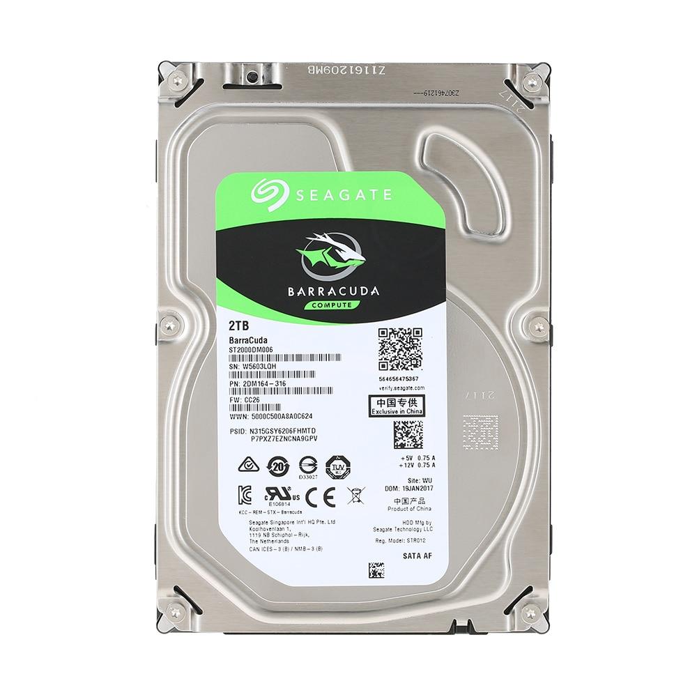 """Seagate Desktop SSHD 2 TB 7200 RPM 3.5/"""" ST2000DX001 Hybrid SSHD SATA 6Gb//s 64 MB"""