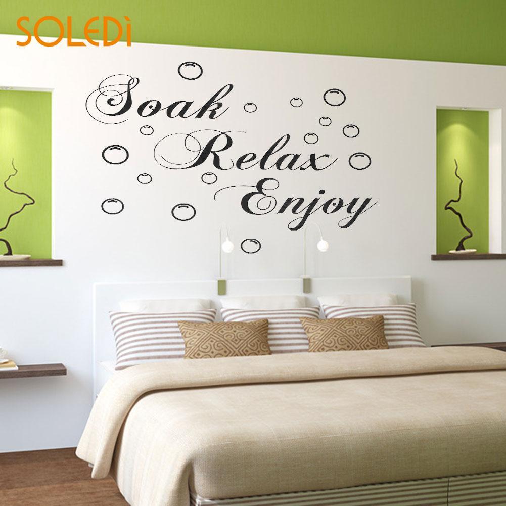 Aliexpress Buy Soak Relax Enjoy Bubbles Vinyl Wall
