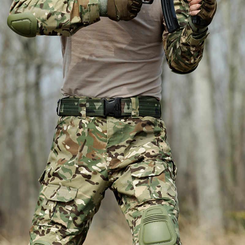 MEGE Tactische Knie en Elleboog Protector Pad Voor Paintball Airsoft Combat Uniform Militaire Pak, 2 kniebeschermers en 2 elleboogbeschermers/Set