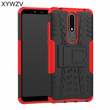 For Cover Nokia 3.1 Plus Case Armor Rubber Hard Back Phone X3 Shell Fundas