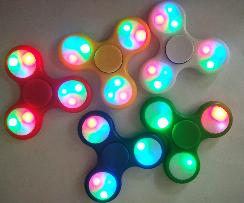 1pcs/lot Led Fidget Spinner High Quality Hand Spinner For Autism and ADHD Rotation Time Long Anti Stress Toys Kid Gift