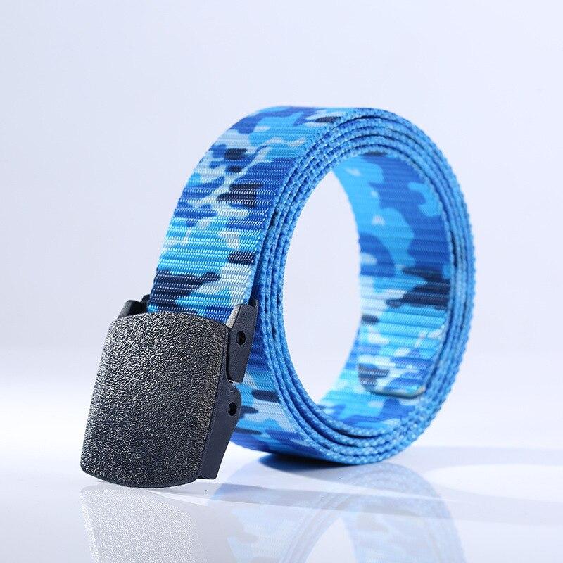 2018 New Men's Women's Soldier Canvas Fashion Durable Casual Nylon Camouflage Print   Belt   Strap PVC Plastic Buckle
