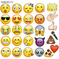 HOMEBEGIN 27pcs Photo Booth Props QQ Emoji Photography Mask Paper Birthday Wedding Decorations Party Supplies