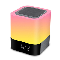EAAGD LED Alarm Clock with Night Light Bluetooth Speakers,All in 1 Touch Sensor Bedside Lamp/MP3 Music Player Alarm Clock