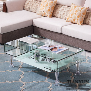 Image 4 - 4 Piece Acrylic Crystal cabinet Glass Tea TV Cabinet Feet Coffee Table Support Legs Furniture feet