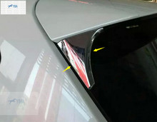 цена на Lapetus ABS Rear Spoiler Wing Side Triangle Cover Trim Auto Styling 2 Pcs For Nissan Qashqai J11 2014 2015 2016 2017