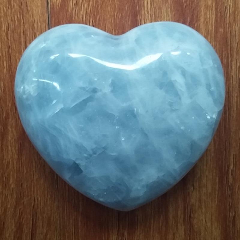 (1pcs 340-370g) Natural celestite quartz crystal heart rehabilitation therapy Gifts wholesale