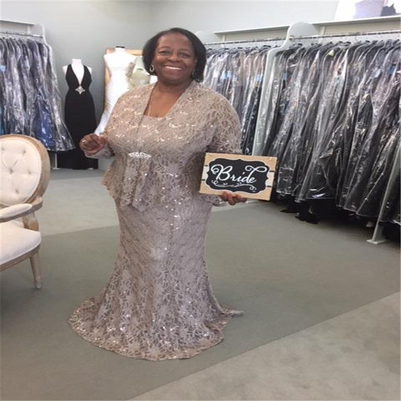 2017 Ursula Full Lace Mother Of The Bride Dresses Plus Size ...