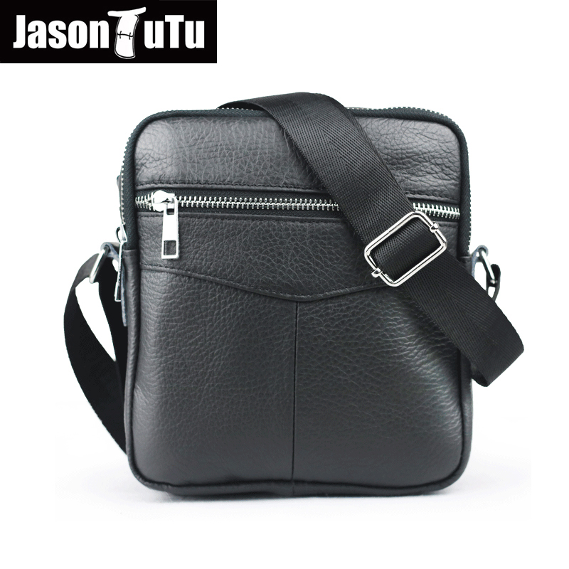 JASON TUTU 100% genuine leather man bag shoulder bags black Soft leather small messenger bag sacoche homme HN05 jason tutu genuine leather crossbody bag top quality vintage soft skin small bag 2017 casual men messenger bags hn241