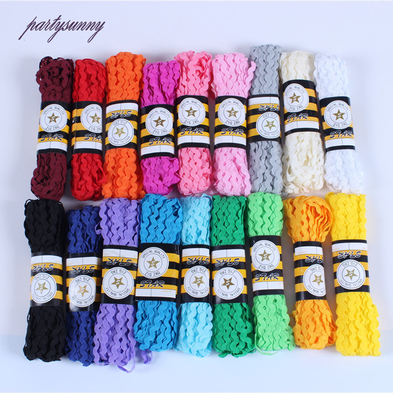 PF 15yards/lot 5mm Lace Fringe Trim Wave Lace and Trim for Sewing Accessories Handmade Patchwork Child Dress Gift Packing HB020