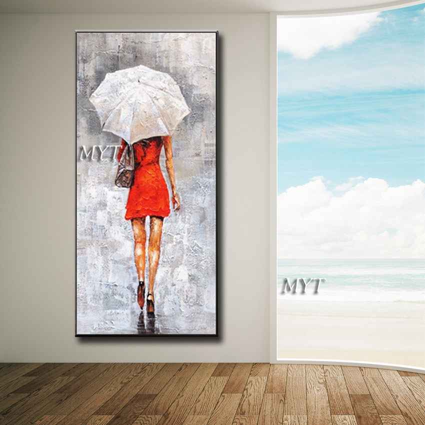 figura beleza menina saia Vermelha com guarda-chuva