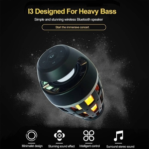 Image 5 - 2In1 Flame Atmosphere Lamp Light Bluetooth Speaker Portable Wireless Stereo Speaker With Music Bulb Outdoor Camping Woofer