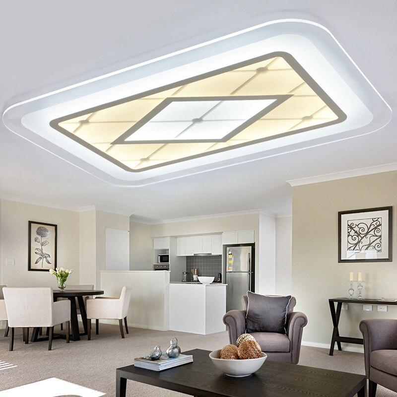 Moderne Led Plafonniers Acrylique Salon Lampe Lamparas De