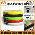 Outdoor traveling Lithium-ion polymer battery gift solar power bank 2600mah