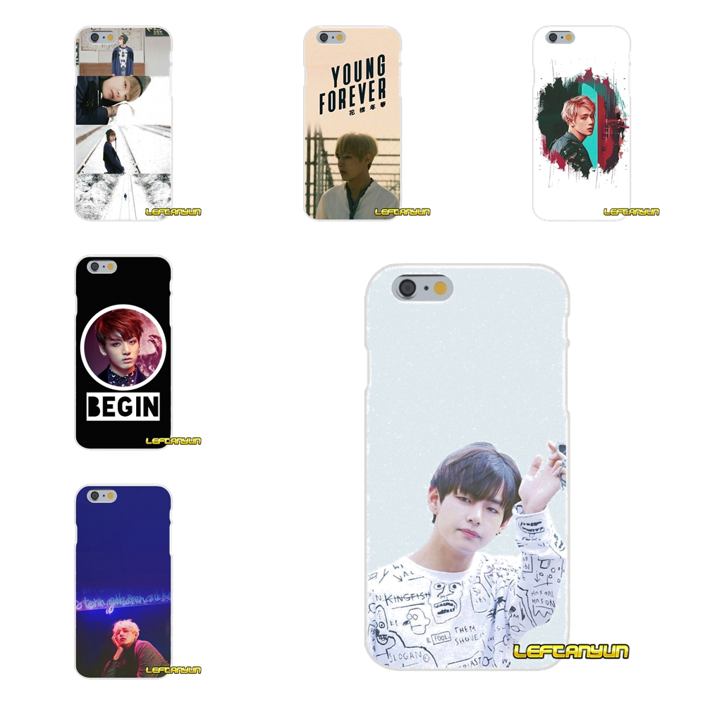 For Samsung Galaxy S3 S4 S5 MINI S6 S7 edge S8 S9 Plus Note 2 3 4 5 8 Cell Phone Skin Cover Bts bangtan boys Taehyung Kpop music