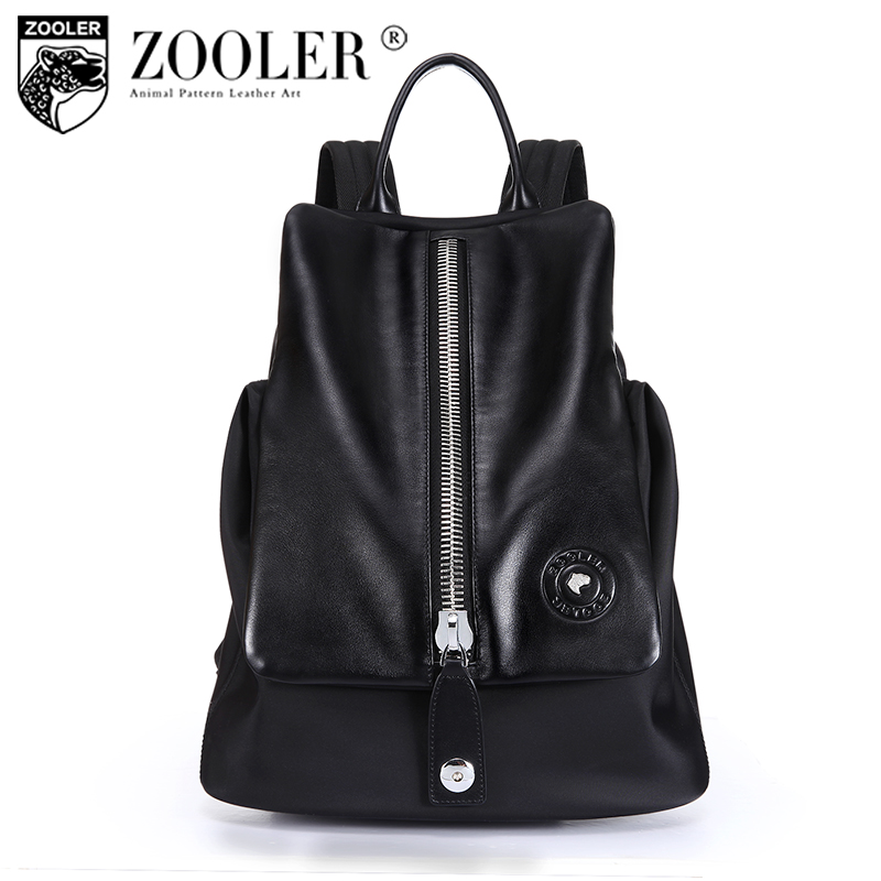 ZOOLER hot superior cowhide backpack men/boy 2017 new gentlemen style backpacks real leather Brand large capacity bag #8382 zooler genuine leather backpacks 2016 new real leather backpack for men famous brand china hot large capacity hot 65055