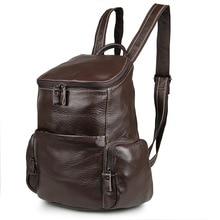 Nesitu Vintage Coffee Real Skin Genuine Leather Lady Women Backpacks Cowhide Cute Teenagers Girl Backpack #M7336
