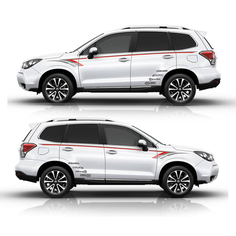 все цены на TAIYAO car styling sport car sticker For Subaru 2014-2018 Forester Mark Levinson car accessories and decals auto sticker