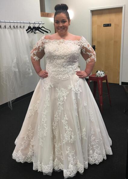 Sexy Lace A Line Plus Size Wedding Dresses With Sleeves China